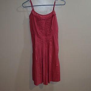 Spaghetti strap mid length summer dress